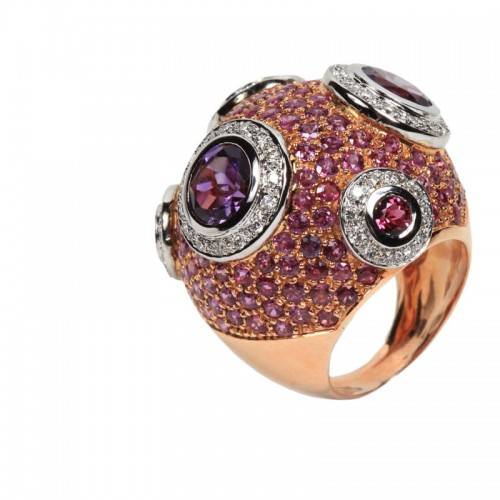 """Diving Suit"" Ruby Ring"