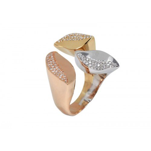 Diamond Tricolor Ring