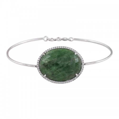 Emerald & Diamonds Bracelet