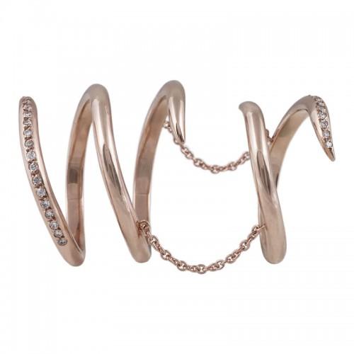 Serpentine Diamond Ring