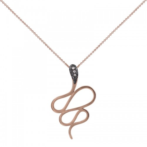 Diamond Snake Pendant