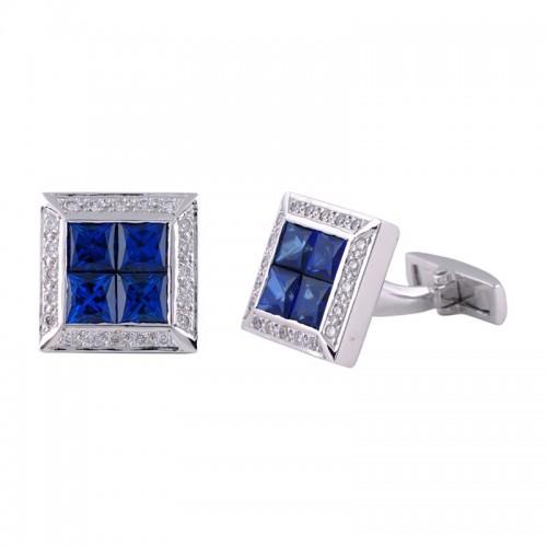 Sapphire & Diamond White Gold Cufflinks