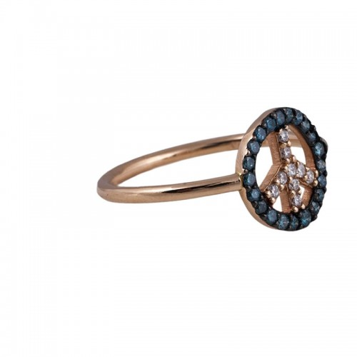 """""""Peace"""" Diamond Ring"""