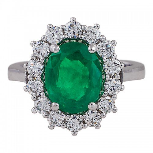 Halo Emerald Ring