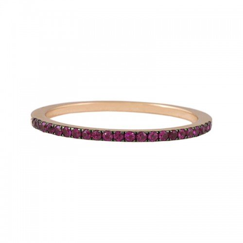 Hot Pink Sapphire Eternity Ring