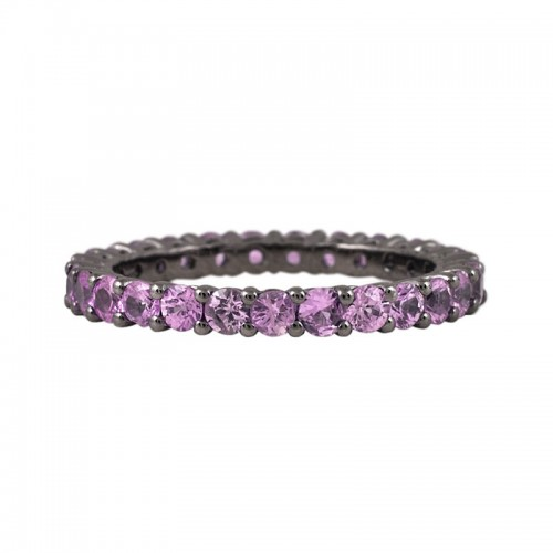 Pink Sapphires Eternity Ring