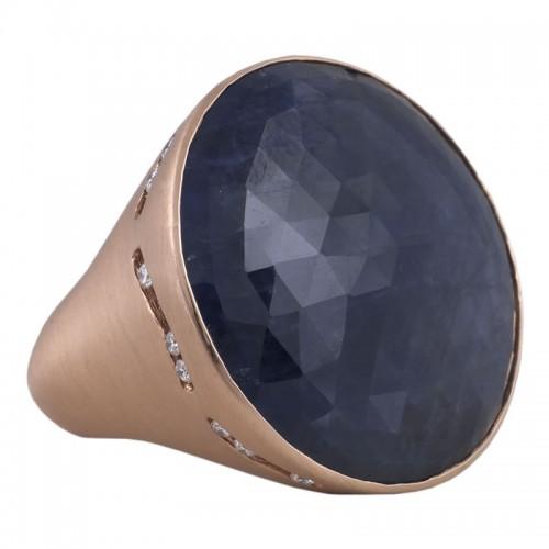 Sapphire & Diamonds Ring
