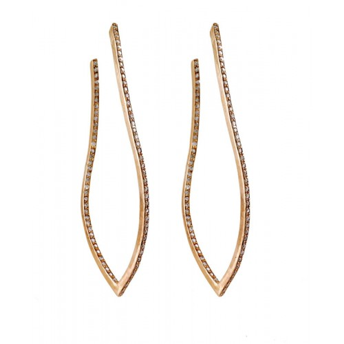 Diamond Twisting Earrings