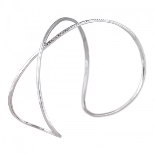 """Curves"" Diamond Bangle"