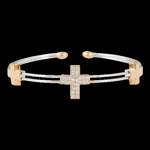 Diamond Cross Bangle