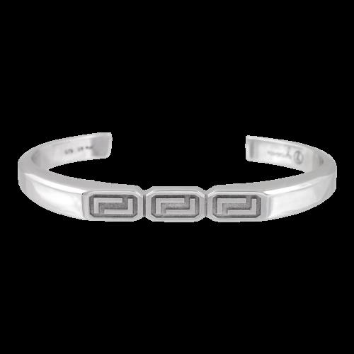 Greek Meander Silver Bracelet