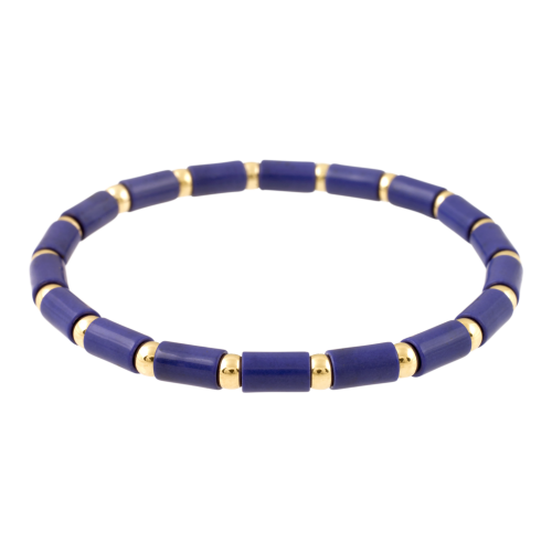 Colorful Bracelet with Gold Beads