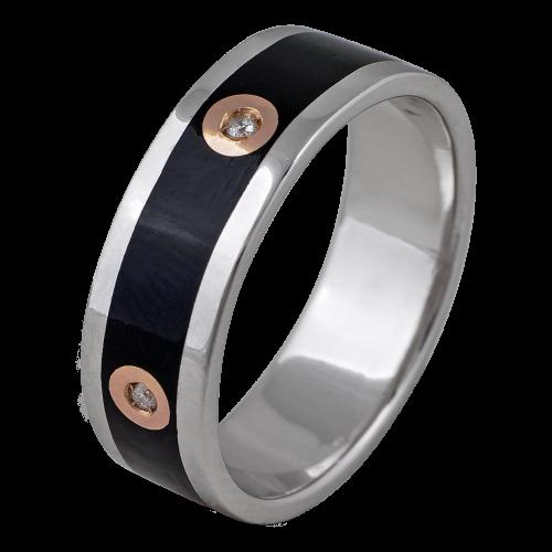 Enamel & Diamonds Ring