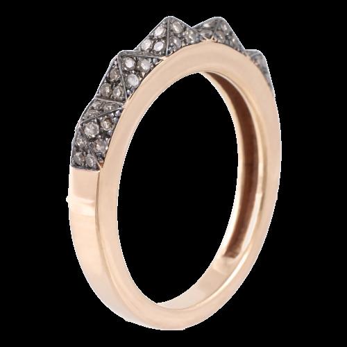 Dinosaur's back Diamond Ring