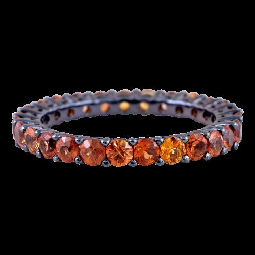 Orange Sapphire Eternity Ring