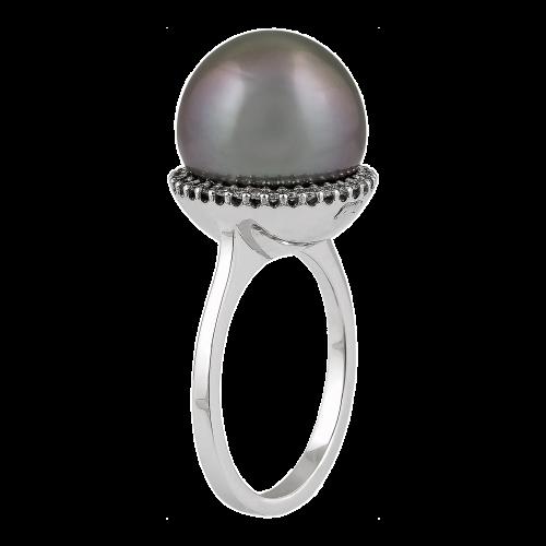 HaloTahiti Pearl & Diamonds Ring