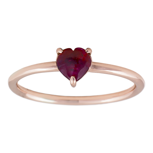 Heart shape Ruby Ring
