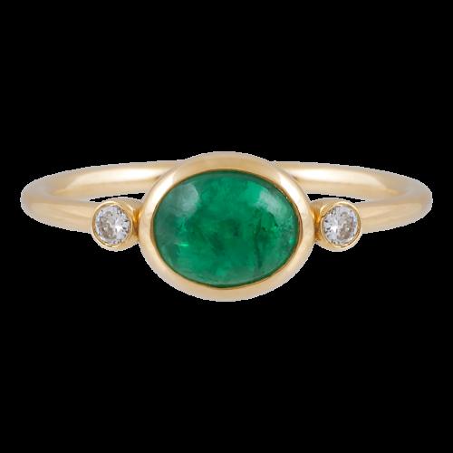 Emerald & Diamonds Ring