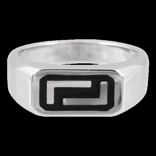 Ασημένιο Δαχτυλίδι με Μέανδρο
