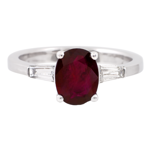 Engagemennt Ruby & Diamonds Ring