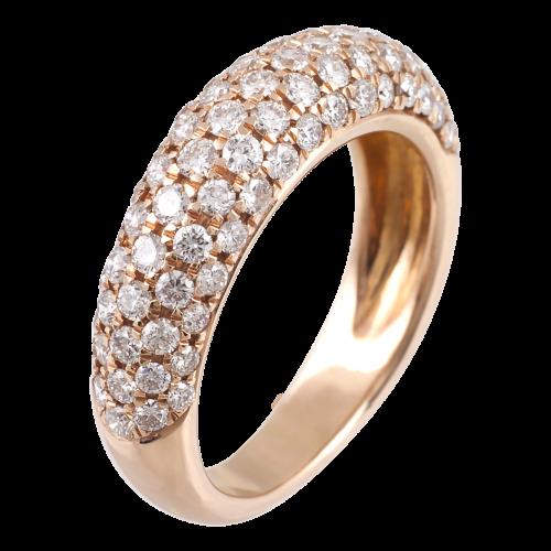 18K gold ring full pave