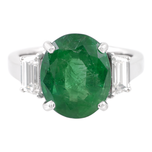 Emerald & Diamonds Ring