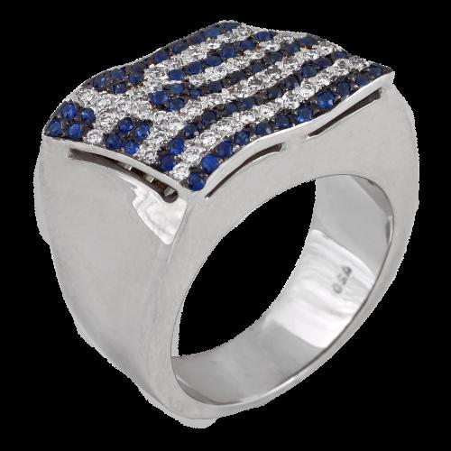 Greek Flag Ring