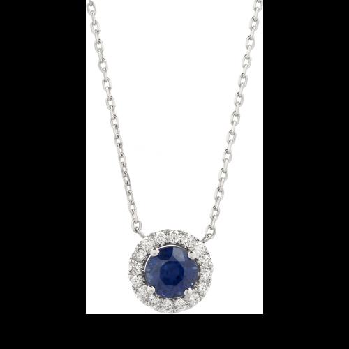 Halo Sapphire Pendant