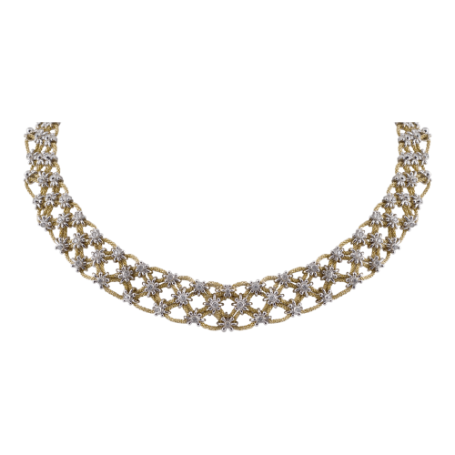Diamond Knitted Necklace