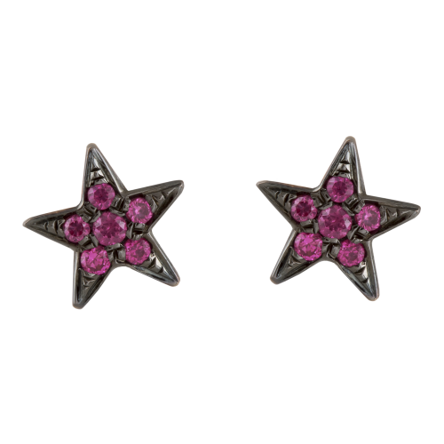 Sapphire Stars Earrings