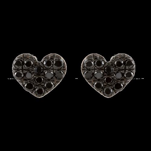 Diamond Hearts Earrings