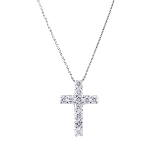 Diamond White Gold Cross