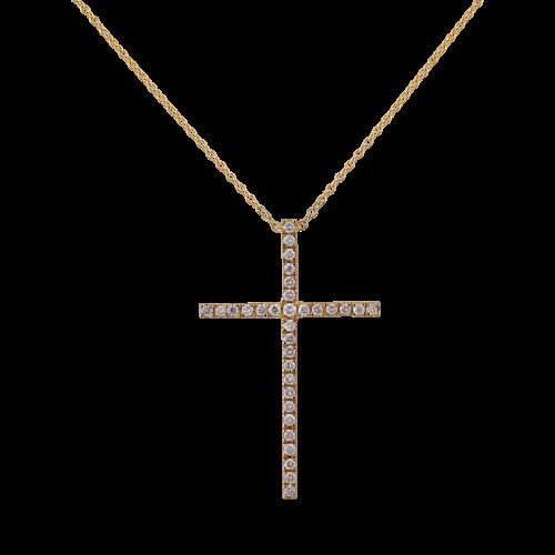 Diamond Yellow Gold Cross