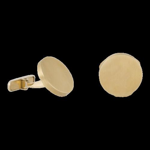Round shaped 18K gold cufflinks