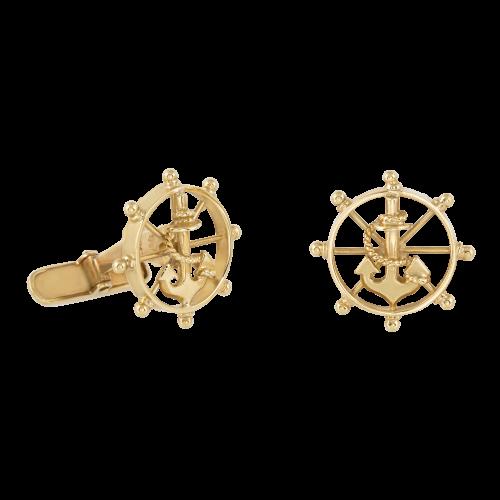 Rudder & anchor 18K Gold cufflinks