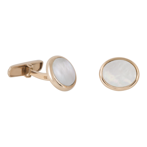 Oval shaped 18K Gold cufflinks
